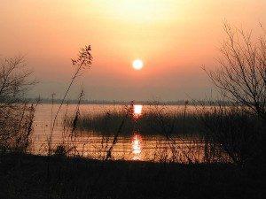 Lake Biwa at Sunset